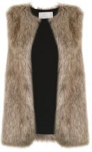 - Lilly Sarti - Fox gilet - women - fibra sintetica/acrilico - 38 - color marrone