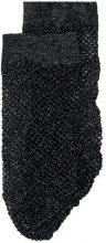 - Twin - Set - metallic fishnet socks - women - fibra sintetica/fibra metallica - L/XL - di colore nero