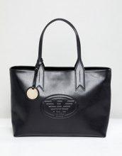 Maxi borsa con zip e marchio
