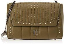 Trussardi Jeans 75B00509-9Y099999, Borsa a Tracolla Donna, Verde (Military), 32x21x15 cm (W x H x L)