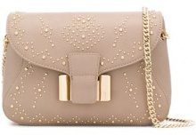 - Liu Jo - Ticinese studded shoulder bag - women - fibra sintetica - Taglia Unica - color carne