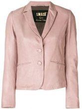 - S.W.O.R.D 6.6.44 - Blazer avvitato - women - cotone/pelle/fibra sintetica - 42, 44, 46, 48 - di colore rosa