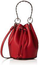 New Look Shiloh Stud Mini - Borse a tracolla Donna, Rosso (Bright Red), 15x19x15 cm (W x H L)