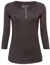 edc by Esprit 088cc1k027, T-Shirt Donna, Grigio (Anthracite 010), X-Large