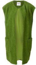 - Essentiel Antwerp - Gilet lungo in bouclé - women - fibra sintetica - 42 - di colore verde