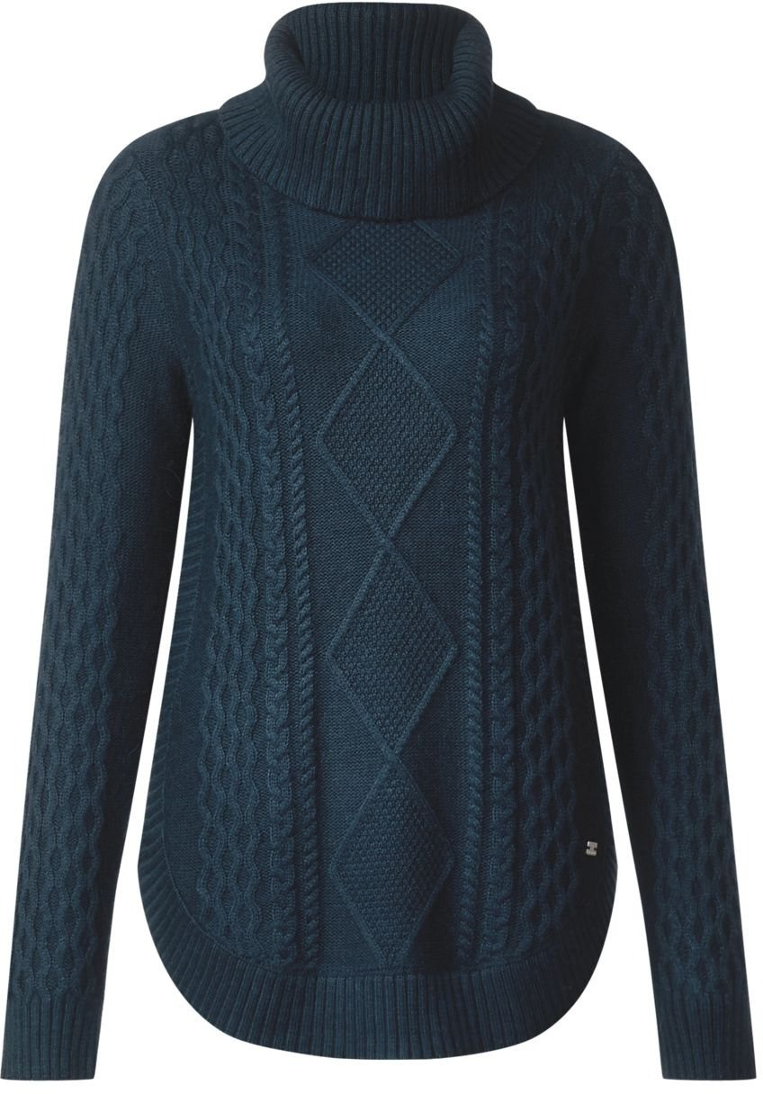 Curved Pullover Blau Donna With Maglione One Street Bottom Cable OpxE6wI
