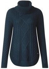 Street One Cable Pullover with Curved Bottom, Maglione Donna, Blau (Dark Pacific Blue 11054), 50