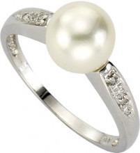 Diamonds by Ellen K. - Anello, oro bianco 8 carati (333), Donna, 10