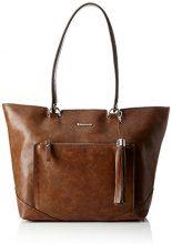 Tamaris Melanie Shopping Bag - Borse a secchiello Donna, Braun (Cognac), 13x29x45 cm (B x H T)