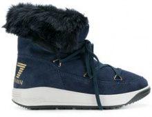 - Ea7 Emporio Armani - Stivali da neve - women - gomma/pelle scamosciata/acrilico - 39, 40, 38 - di colore blu