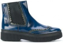 - Tod's - Stivali - women - Patent Leather/Rubber/Leather - 36, 39, 36.5 - Blu