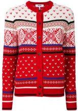 - MSGM - Cardigan - women - acrilico/lana - L - di colore rosso