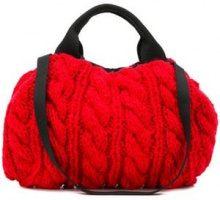 - Muun - Borsa Tote 'Ivar' - women - lana/pelle - Taglia Unica - di colore rosso