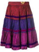 - Moschino Vintage - colour block skirt - women - acetato - 38 - di colore rosso