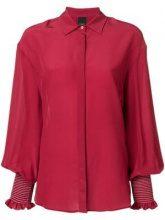 - Pinko - Juliet sleeves shirt - women - seta - 44, 46 - di colore rosso