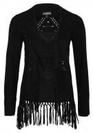 Giacca in fintapelle - black