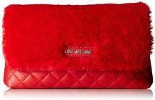 Love Moschino Borsa Nappa Quilted Pu+polies. - Pochette da giorno Donna, Rosso, 6x15x27 cm (B x H T)