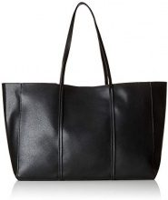 PIECES Pcflora Shopper - Borse a spalla Donna, Nero (Black), 12x32x45 cm (B x H T)