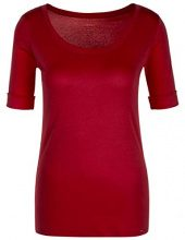 Marc Cain Collections KC 48.69 J14, T-Shirt Donna, Rosso (Burgundy 288), 44