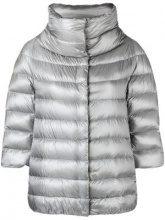 - Herno - zipped padded jacket - women - acetato/piuma d'oca/fibra sintetica/cotonefibra sintetica - 48, 40, 42, 44, 46 - di colore grigio