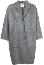 - Semicouture - oversize buttoned coat - women - fibra sintetica/lana vergine - M, S - di colore grigio