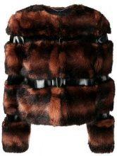 - Elisabetta Franchi - Pelliccia corta - women - fibra sintetica - 40, 46, 42 - di colore nero