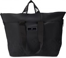 Borsa adidas by Stella McCartney in nylon nero con fantasia animalier