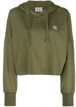- Adidas - cropped hoodie - women - Cotone/poliestere riciclato - 40 - Verde