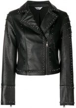 - Liu Jo - studded biker jacket - women - fibra sintetica - 44, 46, 40, 42 - di colore nero