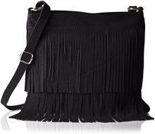 Bags4Less TIPSI, Borsa a tracolla Donna, Nero (Nero (Schwarz Schwarz)), 10x30x30 cm (B x H x T)