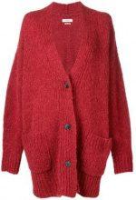 - Isabel Marant Étoile - Cardigan oversize - women - alpaca/fibra sintetica/lana/acrilico - 42, 34, 36, 38, 40 - di colore rosso