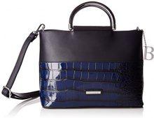 Bulaggi Shadow Handbag - cartella Donna, Blau (Dunkel Blau), 21x12x29 cm (B x H T)