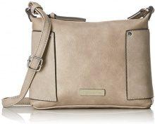 Tamaris Edna Crossbody Bag S - Borse a tracolla Donna, Beige (Pepper Comb), 19x6x24 cm (B x H T)