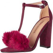 Buffalo Shoes 315960a Bhwmd A200# Imi Sue, Sandali con Chiusura a T Donna, Rosso (Burgundy 01), 37 EU