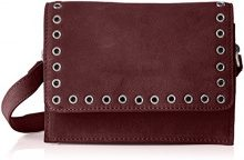 PIECES Pcneema Suede Cross Body - Borse a tracolla Donna, Rot (Port Royale), 8x14x20 cm (B x H T)