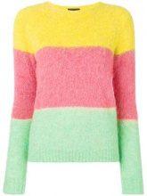 - Roberto Collina - colour block knit sweater - women - Polyester/Acrylic/viscose/MohairSpandex/ElastaneWool - XS , S, M - Verde