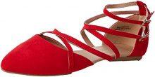 New Look Wide Foot Jirly, Ballerine con Cinturino alla Caviglia Donna, Rosso (Bright Red 60), 37 EU