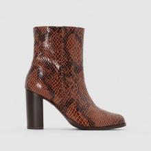 Boots in pelle effetto pitonato