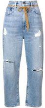 - Levi's: Made & Crafted - distressed cropped jeans - women - cotone - 27, 28, 29 - di colore blu