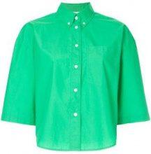 - Ck Calvin Klein - Camicia crop - women - cotone - 42 - di colore verde