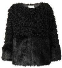 - L'Autre Chose - faux fur jacket - women - fibra sintetica - 44, 46, 42 - di colore nero
