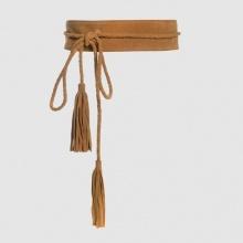 Cintura da annodare, pompons e frange