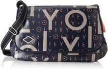 Oilily Lori Letters Diaperbag Lhf - Borse a tracolla Donna, Blu (Dark Blue), 16x30x44 cm (B x H T)