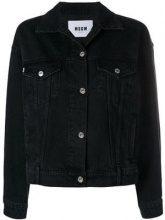 - MSGM - Giacca in denim con logo - women - fibra sintetica/cotone - 40 - di colore nero