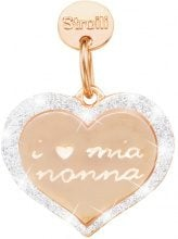 Amore di Nonna. Charm in argento 925 rosato e glitter per Donna