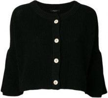- Roberto Collina - Cardigan corto con bottoni - women - cotone - S - di colore nero