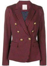 - Pinko - double breasted pinstripe blazer - women - fibra sintetica/acetato/cotonefibra sintetica - 44, 46, 48, 38, 40, 42 - di colore rosso