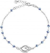 Bracciale rosario in argento 925 rodiato per Donna