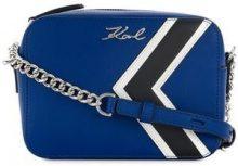 - Karl Lagerfeld - Borsa a spalla 'K/stripes' - women - Leather - Taglia Unica - Nero