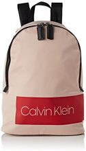 Calvin Klein Jeans Block Out Backpack - Zaini Donna, Beige (Nude), 14x36x33.5 cm (B x H T)